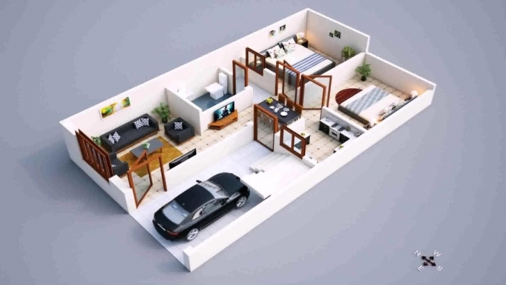 Top Photo of Modern 2018 800 Sq Ft House Plans With Car Parking 1200 Sq Ft House Plan With Car Parking 3D Pic