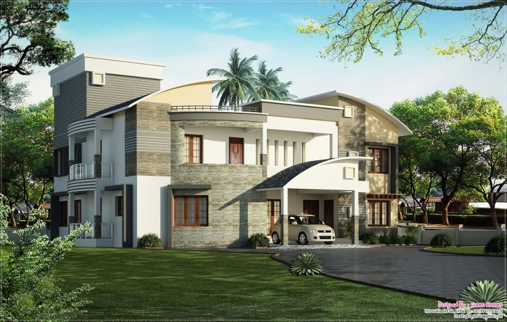 Top Photo of Plush Design 2 Kerala Modern House Plans And Elevations 2009 Arts Kerala Modern House Plan And Elevation Image