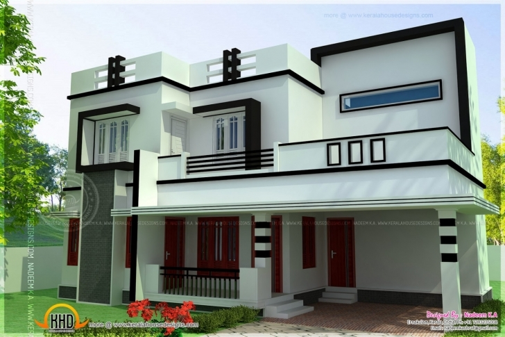 Top Photo of Simple 4 Bedroom House Designs Flat Roof 4 Bedroom Modern House Simple Flat Modern House Image