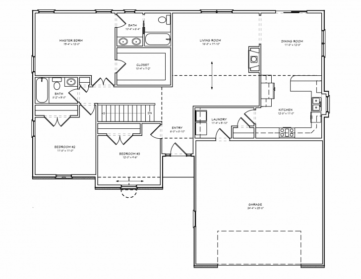 Top Photo of Small 3 Bedroom House Plans Or By Charming Simple Floor Plans For 3 Download A Simple Plan For A Three Bedroom House Pic