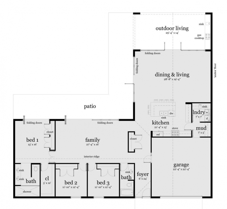 Top Photo of Stunning Simple L Shaped House Plans Photos Designs Kitchen Floor L Shaped House Plans Australia Pic