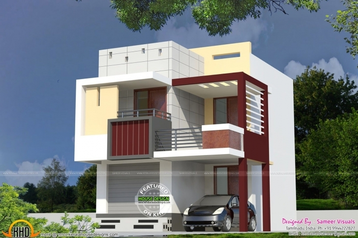 Top Photo of Very Small Double Storied House | Story House, House And Dream House Home Front Design Double Floor Picture