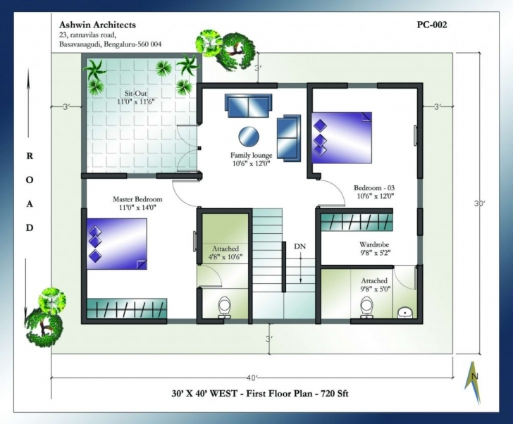 Top Photo of X House Plans Planex East Facing With Vastu Square Feet India West Indian Vastu House Plans For 30X40 East Facing Image