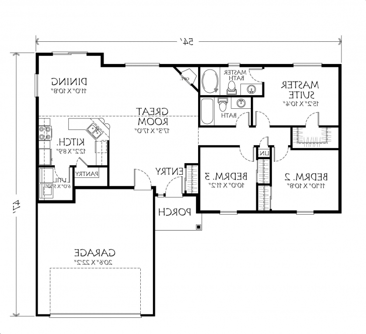 Top Single Story Small House Plans - Tiny House Small Single Story House Floor Plans Picture