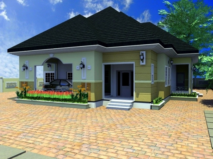 Top Unique 4 Bedroom House Design In Nigeria - House Plan Architectural Designs For 4 Bedroom Bungalow In Nigeria Image