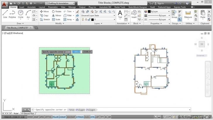 Wonderful Autocad Space Planning Tutorial | Title Blocks - Youtube Autocad Plan 2D Top Image