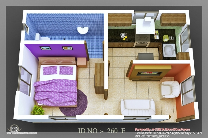 Wonderful Decor: 3D Small House Plan Layout And 2 Bedroom House Plans Indian Small House Plans Indian Style 3D Picture
