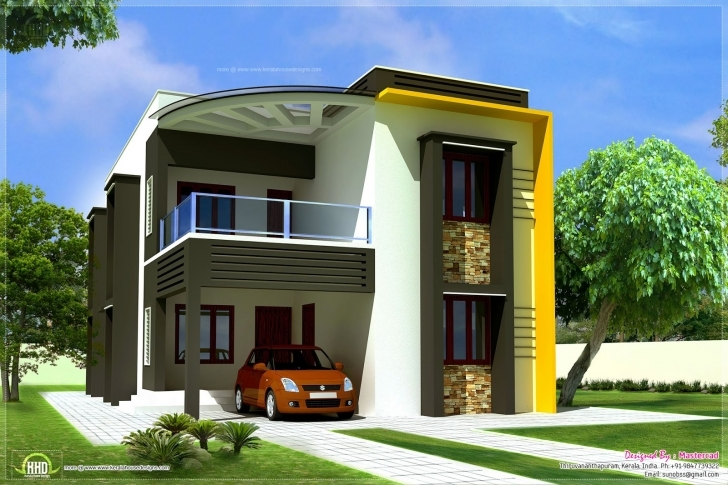 Wonderful Front Elevation Modern House Simple Home Architecture Design Within Simple Building Plan With Front Elevation Pic