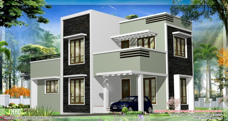 Wonderful Home Architecture: House Plans Design Modern Designs Flat Roof Simple Flat Modern House Image
