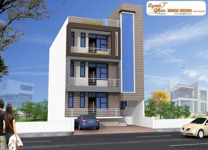 Wonderful Independent Floor Design Apnaghar House Page Saudi Ideas 2 Front 2 Floor Front Elevation Of House Pic