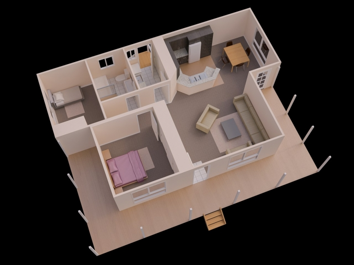 Wonderful Simple Home Plan With 2 Bedrooms Ideas Sq Ft House Plans Bedroom Simple House Plan With 2 Bedrooms Picture